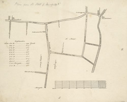 [A survey of roads from Old Street Church to Shoreditch Church]